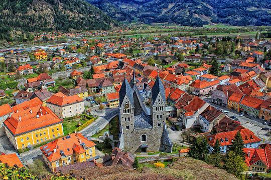 Stadt Friesach, Blick von oben